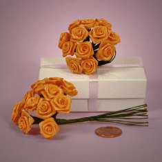 Bouquet of Orange Ribbon Roses: click to enlarge