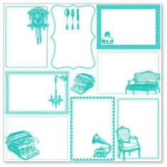Teal Decor Notes: click to enlarge
