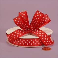 3/8 Red White Polka Dot Grosgrain: click to enlarge